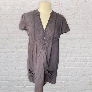 S Oliver Classic Woven Button Front Dress Gray 16